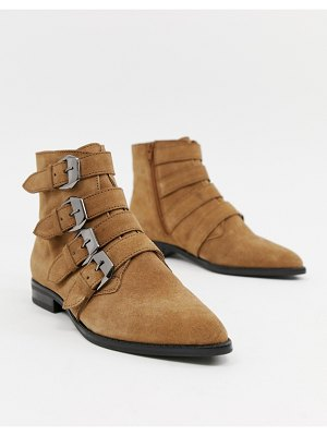 ASOS DESIGN alissa leather buckled boots
