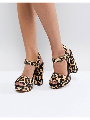 ASOS DESIGN asos hidden gem leather platform sandals
