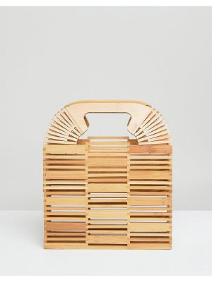 ASOS DESIGN bamboo square boxy clutch bag