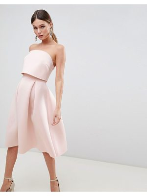 Asos Bandeau Crop Top Prom Midi Dress