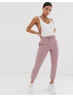 ASOS DESIGN basic jogger with tie