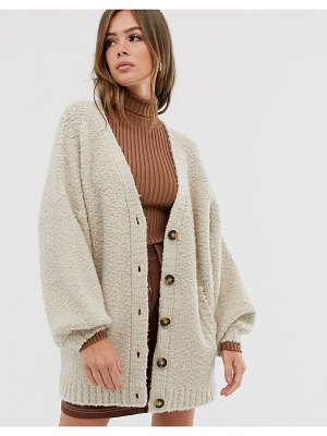 ASOS DESIGN borg knit cardigan