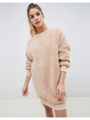 ASOS DESIGN borg sweater dress