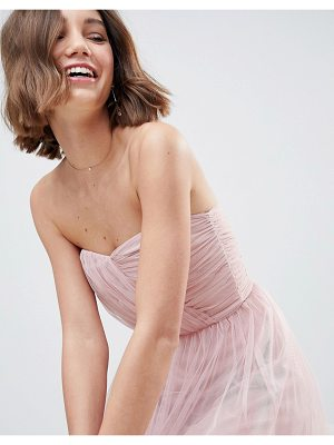 ASOS DESIGN bridesmaid bandeau tulle maxi dress