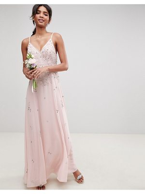 ASOS DESIGN bridesmaid embellished cami maxi dress
