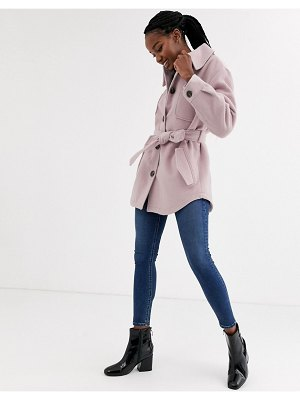 ASOS DESIGN brushed jacket in pink