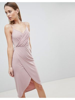 ASOS DESIGN cami drape cowl back slinky midi dress