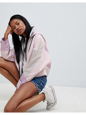 ASOS DESIGN color block anorak jacket-pink