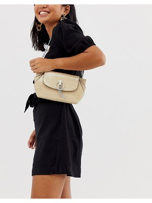 ASOS DESIGN concertina 90s shoulder bag in croc
