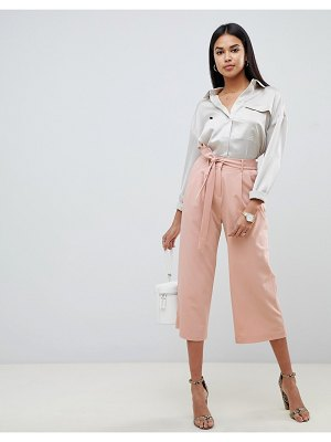 ASOS DESIGN culotte with tie waist