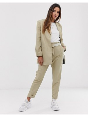 ASOS DESIGN dad suit blazer with pleat sleeve