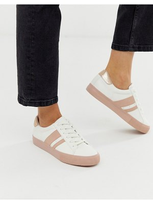 ASOS DESIGN defeat sneakers in white and pink