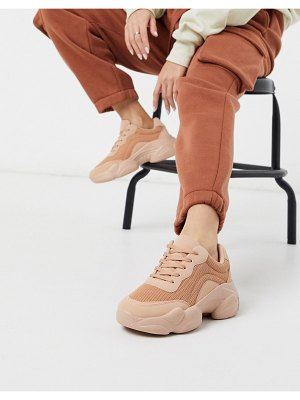 ASOS DESIGN destined chunky sneakers in beige drench