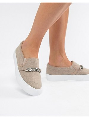 ASOS DESIGN dozen chain slip on plimsolls