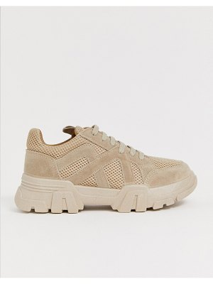ASOS DESIGN drone chunky sneakers in sand