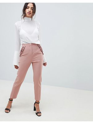 ASOS DESIGN frill pocket slim pants