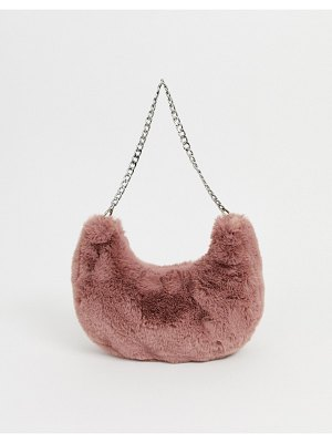 ASOS DESIGN fur 90s hobo shoulder bag