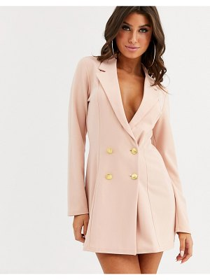 ASOS DESIGN glam double breasted jersey blazer