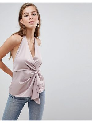 Asos Halter Top With Origami Plunge