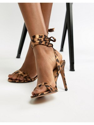 ASOS DESIGN hatty barely there heeled sandals