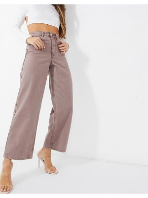 ASOS DESIGN high rise 'relaxed' dad pant in tan