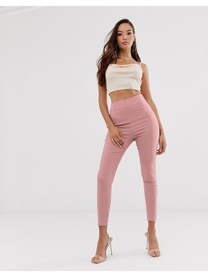 ASOS DESIGN high waist pants in skinny fit-pink