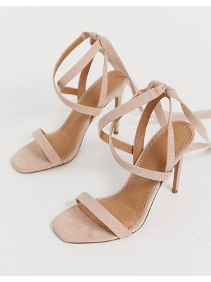 ASOS DESIGN hollis barely there heeled sandals-pink