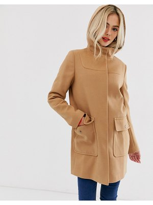 ASOS DESIGN hooded slim coat