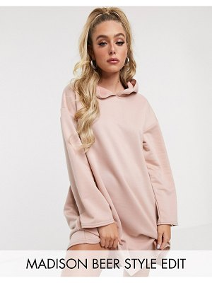 ASOS DESIGN hoody swing dress with concealed pockets