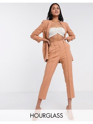 ASOS DESIGN hourglass tailored smart mix & match cigarette suit pants-pink