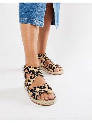 ASOS DESIGN jose leather espadrille sandals