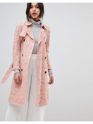 Asos DESIGN Lace Trench Skater