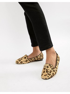 ASOS DESIGN leo leather ballet flats