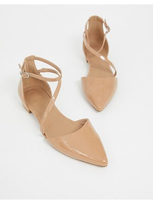 ASOS DESIGN lifetime pointed ballet flats in beige
