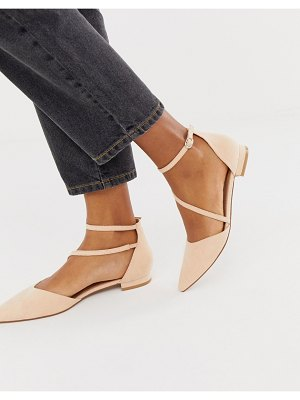 ASOS DESIGN lifetime pointed ballet flats in apricot