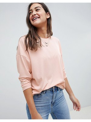 ASOS DESIGN long sleeve t-shirt with batwing in pink