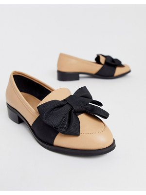 ASOS DESIGN matchsticks flat shoes in beige