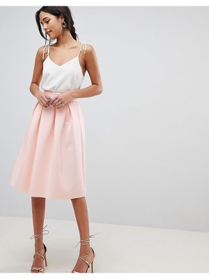 Asos Midi Prom Skirt In Scuba