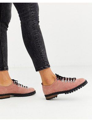 ASOS DESIGN midnight hiker flat shoes in pink