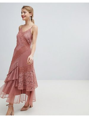 Asos DESIGN Mix & Match Lace & Dobby Cami Dress