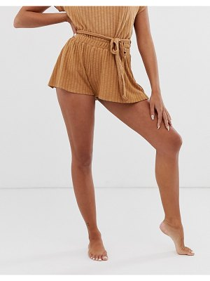 ASOS DESIGN mix & match lounge fluted short-tan