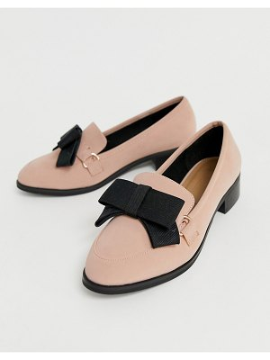 ASOS DESIGN montie bow flat shoes