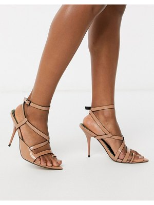 ASOS DESIGN nash pointed insole heeled sandals in beige