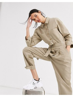 ASOS DESIGN oversized pocket boiler jumpsuit with rolled hem