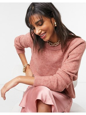 ASOS DESIGN oversized sweater with crew neck in dusky pink