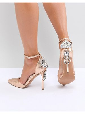 ASOS Design Plaza Embellished High Heels