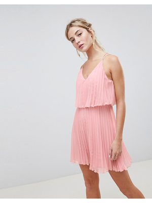Asos Pleated Crop Top Mini Dress
