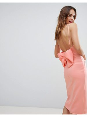 ASOS DESIGN premium bow back cami wrap dress