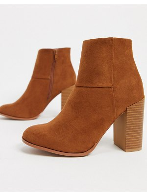 ASOS DESIGN recite heeled ankle boots in tan