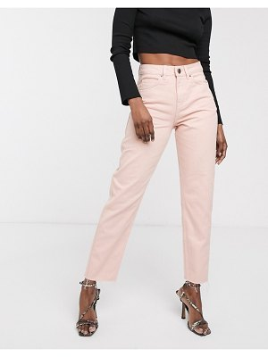 ASOS DESIGN ritson original mom jeans is washed pink